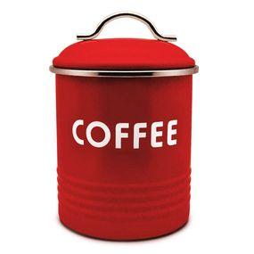 PORTA-CAFE-FARM-GALVANIZADO-VERMELHO-Ø115-X-Ø115-X-16CM