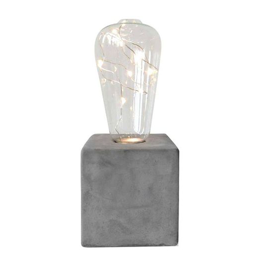 LUMINARIA-LED-CONCRETE-BASE-SQUARE-CINZA-8X8X205CM