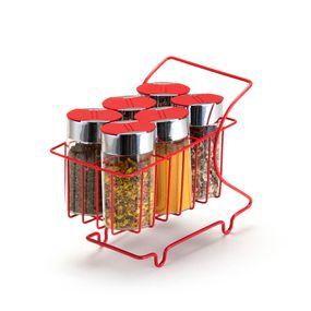 Mini-Carrinho-Com-6-Porta-Condimentos-Vermelho