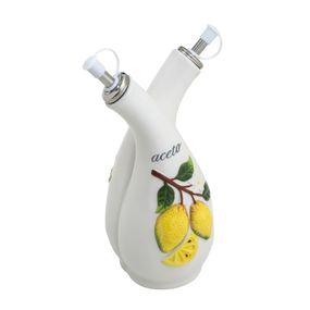 Garrafa-Dupla-Ceramica-Para-Azeite-E-Vinagre-Lemons-300ml