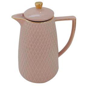 Garrafa-Termica-De-Porcelana-Rose-Textura-E-Dourado