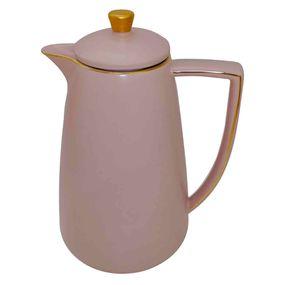 Garrafa-Termica-De-Porcelana-Rose-Fosco-E-Dourado