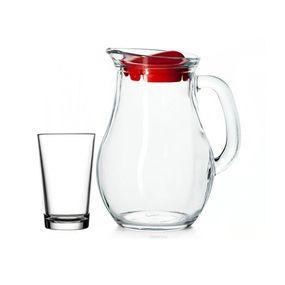 Jogo-Para-Refresco-Bistro-7-Pecas-Em-Vidro-Transparente