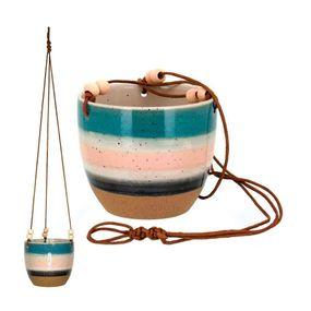 Cachepot-Gaspar-Pendente-13x17cm-Em-Ceramica-Multicolorido