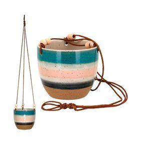 Cachepot-Gaspar-Pendente-13x15cm-Em-Ceramica-Multicolorido