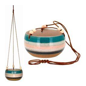 Cachepot-Gaspar-Pendente-11x19cm-Em-Ceramica-Multicolorido
