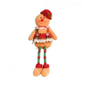 Ginger-Bread-Sentado-Com-Vestido-Caramelo-E-Vermelho